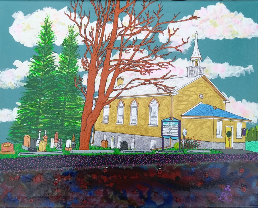Painting of Eldad Church by Brad Cowen 2020