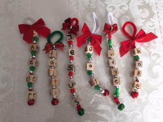 Wooden Block Ornaments