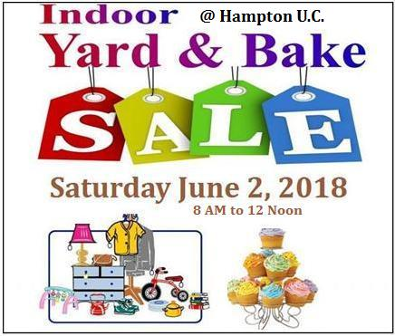 Indoor Yard & Bake Sale