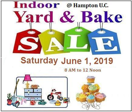 Indoor Yard & Bake Sale tools added 2019