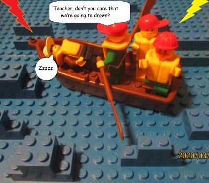 Lego Jesus Calms the Storm 1