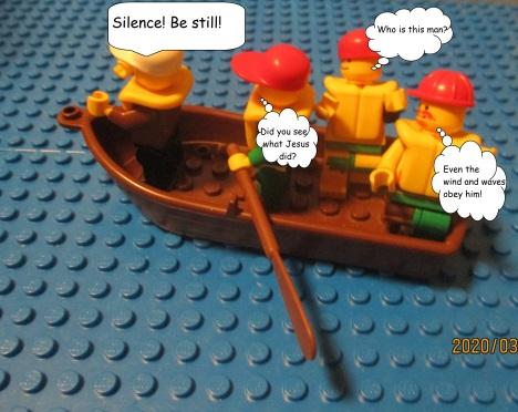 Lego Jesus Calms the Storm 2